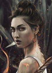 Transformation - Dragon Girl / Digital painting by vurdeM