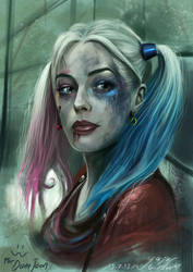 Harley quinn - Suicide squad ( to Dana Jean ) by vurdeM