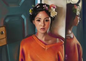 Mirror + flowers Photostudy by vurdeM