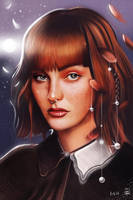 Kacy Hill 3 - Ilustration ( Moon Girl ) by vurdeM
