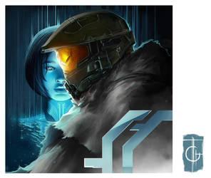 Master Chief and Cortana by thegameworld