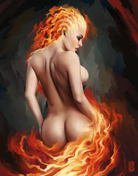 Goddess of Fire by thegameworld