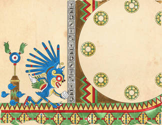 sonic the hedgehog - Aztec version by labalaenlabiblia