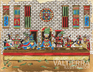 The last supper - Aztec version by labalaenlabiblia