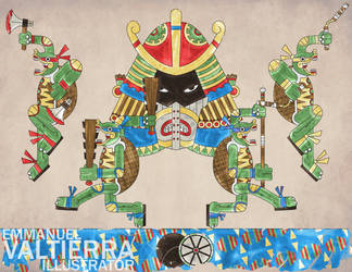 Teenage Mutant Ninja Turtles - Aztec Version by labalaenlabiblia