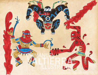 Maximum Carnage Spiderman - Aztec Version by labalaenlabiblia