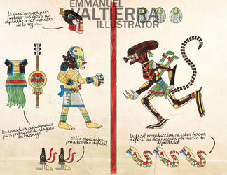 Alien vs Predator Aztec version by labalaenlabiblia