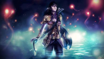 Dungeons and Dragons: Farah (OC Commission) by Eddy-Shinjuku