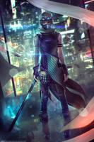 Korsin, Female Ninjapunk - OC Commission by Eddy-Shinjuku