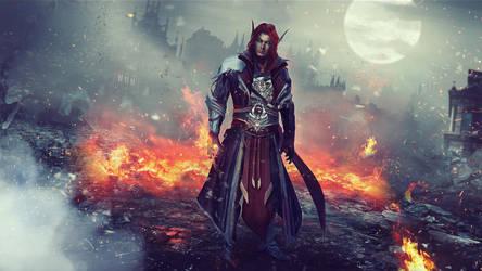 World of Warcraft - OC Commission Full Scene by Eddy-Shinjuku