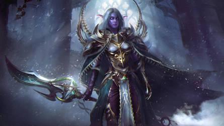 Lexith, Kaldorei Warden  - Warcraft Commission by Eddy-Shinjuku