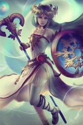 Lady Palutena: Game-Art-HQ Art Collaboration by Eddy-Shinjuku