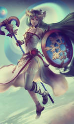 Lady Palutena: Game-Art-HQ Art Collaboration by Eddy-Shinjuku