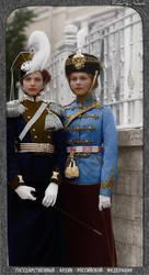 Tatiana and Olga ~ colored photo by natsafan