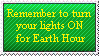 Anti-Earth Hour Stamp by MetalShadowOverlord