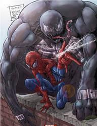 Spider-Man and Venom by TheArtistJ