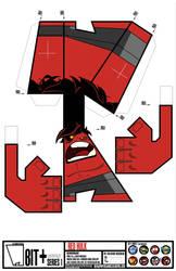 Red Hulk BIT+ by IdeatoPaperStudios