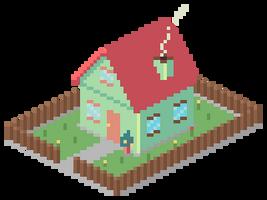 pixel house by LordVanDemon