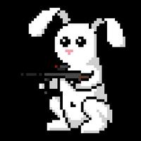 Snowball the battle bunny by LordVanDemon