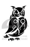 Tribal owl by Atomic-Tanuki