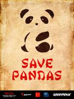 Save Pandas poster by gemicek