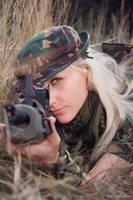 Military girl I by ukrain
