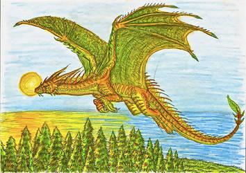 dragons flight by Sunima