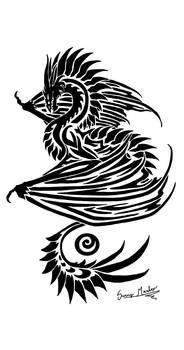 Tribal Dragon by Sunima