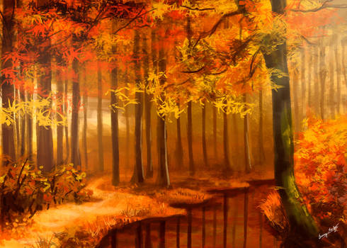 Autumn forest by Sunima