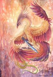 The phoenix's sword by Sunima