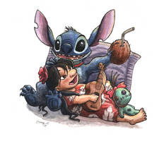 Lilo and Stitch by Sunima