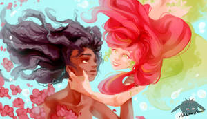 Water's bond by Louna-Ashasou