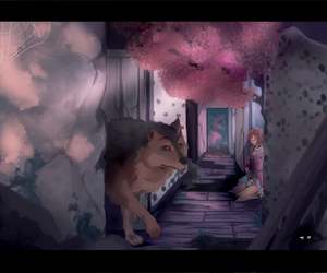 Flowers bloom in empty halls by Louna-Ashasou