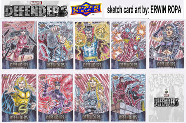 05- 2019 MARVEL DEFENDERS sketch cards by EuROPA777