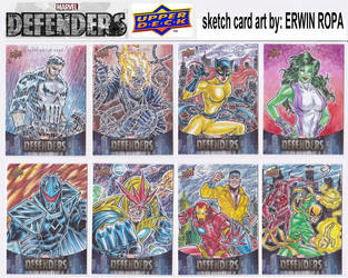 03- 2019 MARVEL DEFENDERS sketch cards by EuROPA777
