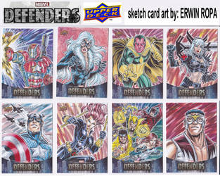 01- 2019 MARVEL DEFENDERS sketch cards by EuROPA777