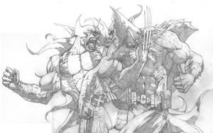 Wolverine Batman WIP by ScottJc