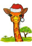 Xmas Giraffe by Destiny-Carter