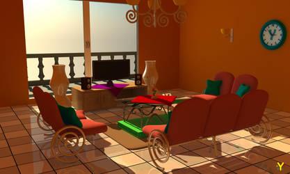 Living Room V - 2 by YHOTF