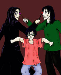 Harry,Sirius,and Snape by grammabeth