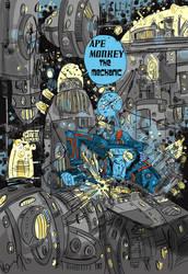 APE MONKEY THE MECHANIC by kgfunkey