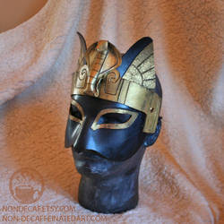 Bastet Cobra Headdress Mask by nondecaf