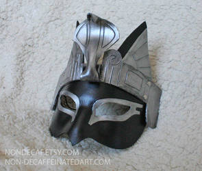 Bastet Cobra Headdress Mask in silver by nondecaf