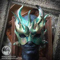 Sun Dragon Mask by nondecaf