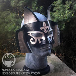 Fleur-de-lis Egyptian Cat Mask by nondecaf