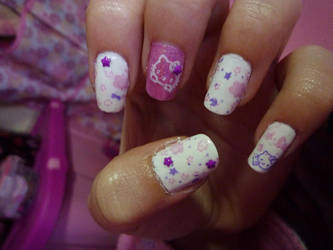 Hello Kitty Nail Art by 041296