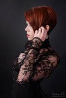 portrait in black lace by petitchatperdu