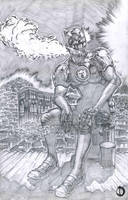 SanEspina TheLonelyWolf`sBlues page2pencils by santiagocomics