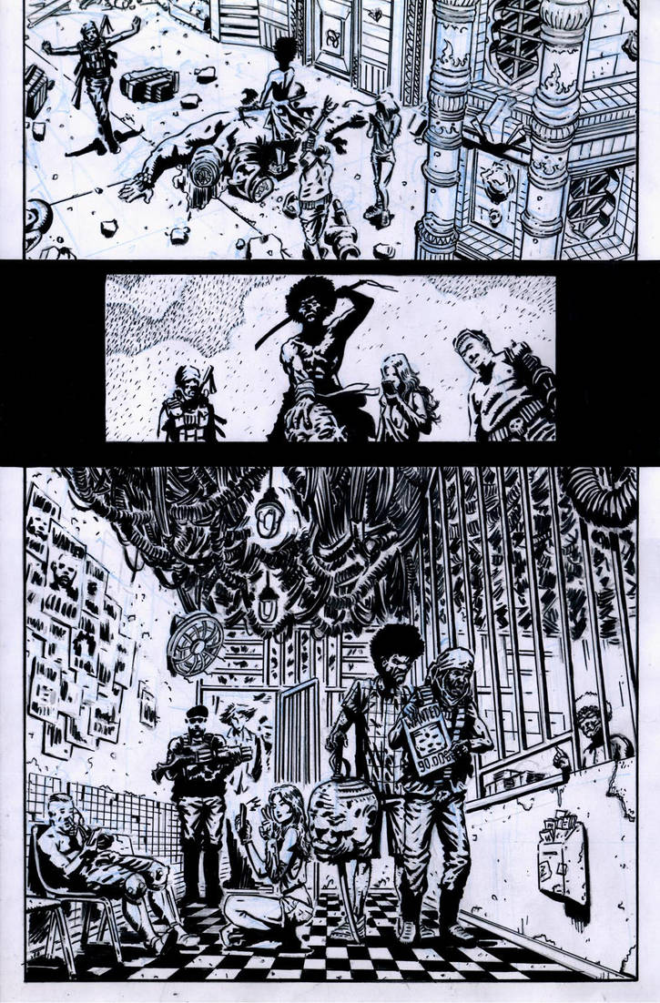 SanEspina Wanted page5 ink by santiagocomics