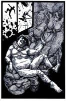 SanEspina MiracleMan Page3 inks by santiagocomics